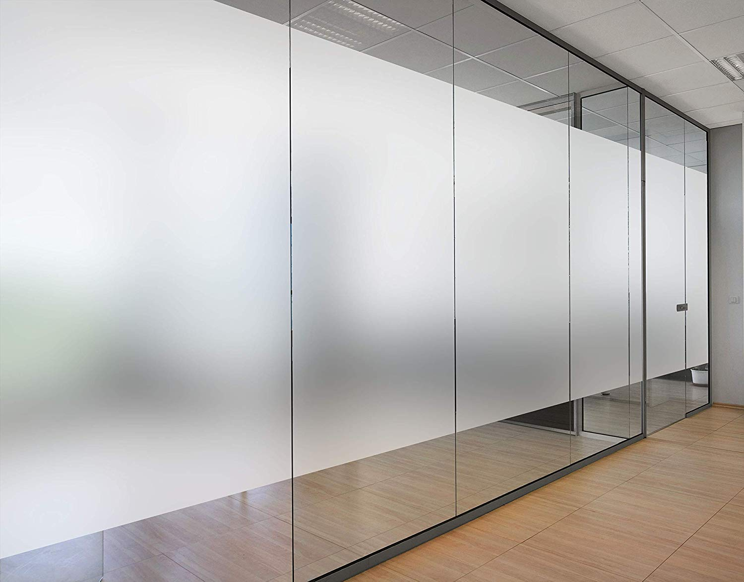 Frosted glass benefits in partitioning of modern offices